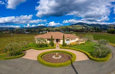 Napa County Single Family Home For Sale: 1291 Monticello Road