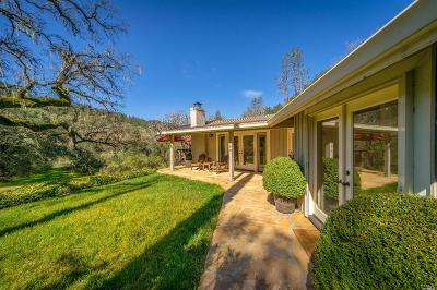 St. Helena Single Family Home For Sale: 1460 Conn Valley Road