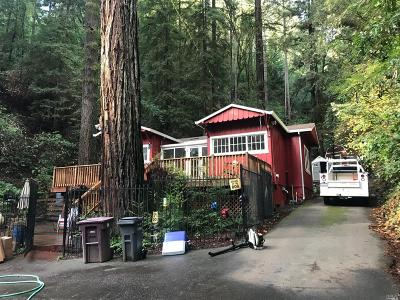 Guerneville CA Single Family Home For Sale: $515,000
