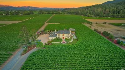 St. Helena CA Single Family Home For Sale: $11,995,000