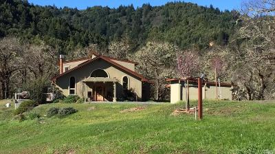 Willits CA Single Family Home For Sale: $849,000