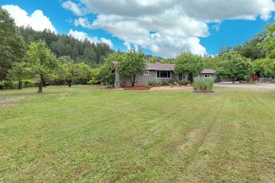 Calistoga Single Family Home For Sale: 4395 Scott Way