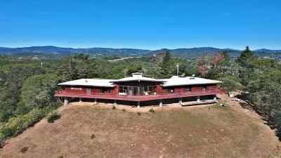 Mendocino County Single Family Home For Sale: 5801 Lake Ridge Road
