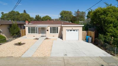 Vallejo Single Family Home For Sale: 530 Tregaskis Avenue