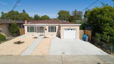 Vallejo Single Family Home For Sale: 530 Tregaskis Avenue