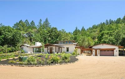 Calistoga Single Family Home For Sale: 957 Petrified Forest Road