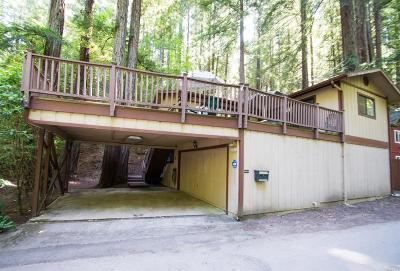Guerneville CA Single Family Home For Sale: $599,000