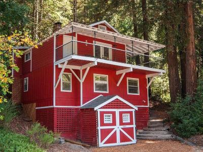 Guerneville CA Single Family Home For Sale: $559,900