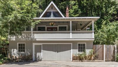 Guerneville CA Single Family Home For Sale: $449,000