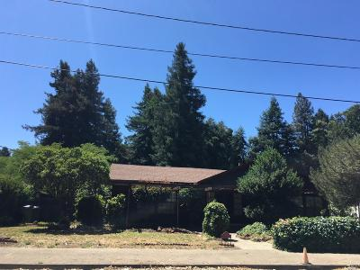 Mendocino County Single Family Home Contingent-Show: 515 Cypress Avenue