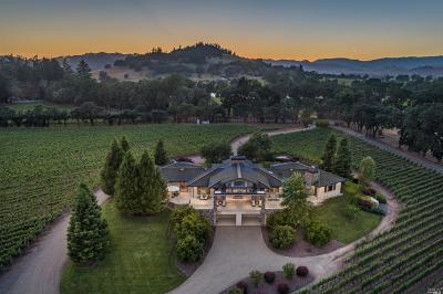 Calistoga Single Family Home For Sale: 11080 Franz Valley Road