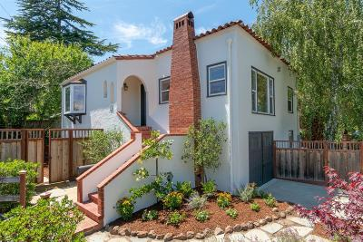 Mill Valley Single Family Home For Sale: 55 Park Avenue