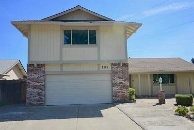 Vacaville Single Family Home For Sale: 191 North Alamo Drive