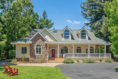 Santa Rosa Single Family Home For Sale: 7678 Sonoma Highway