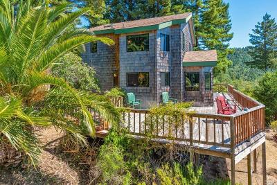 Mendocino County Single Family Home For Sale: 46041 Sunset Drive