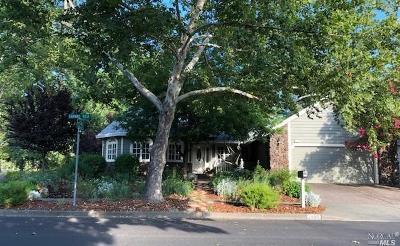 Calistoga Single Family Home For Sale: 1488 Fairway Vista Court