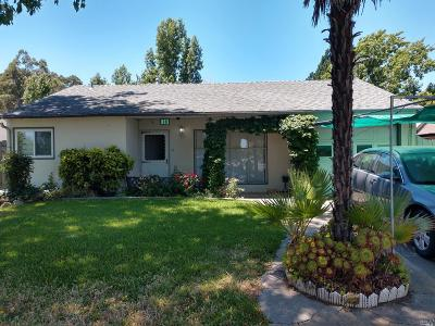 Fairfield CA Single Family Home For Sale: $320,000
