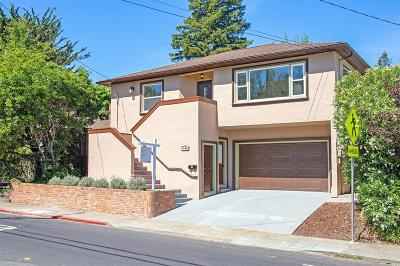 Mill Valley Single Family Home For Sale: 489 East Blithedale Avenue