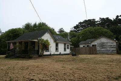 Fort Bragg Single Family Home For Sale: 18401 N Highway 1