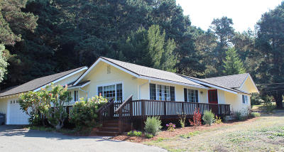 Mendocino CA Single Family Home For Sale: $720,000