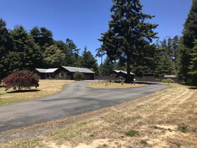 Fort Bragg Single Family Home For Sale: 16701 Pearl Ranch Road