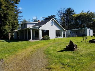 Fort Bragg Single Family Home For Sale: 23611 N Highway 1