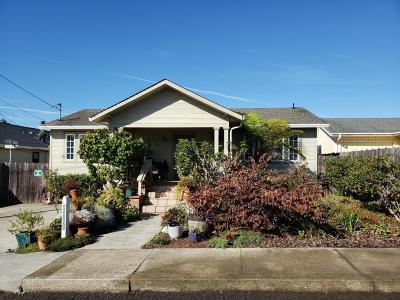Fort Bragg Single Family Home For Sale: 155 Spring Street