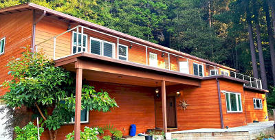 Mendocino County Single Family Home For Sale: 23501 Seaview Drive
