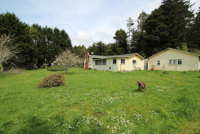 Fort Bragg CA Single Family Home For Sale: $339,000