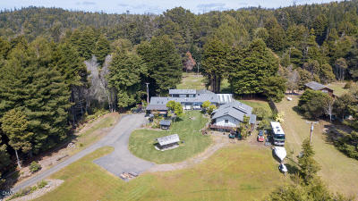 Fort Bragg Single Family Home For Sale: 26921 N Highway 1