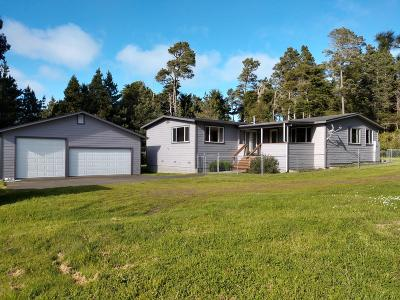 Fort Bragg Single Family Home For Sale: 32430 N Mitchell Creek Road