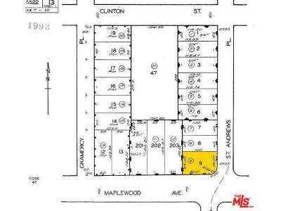 Hancock Park-Wilshire (C18) Residential Lots & Land Sold: 505 North St Andrews Place