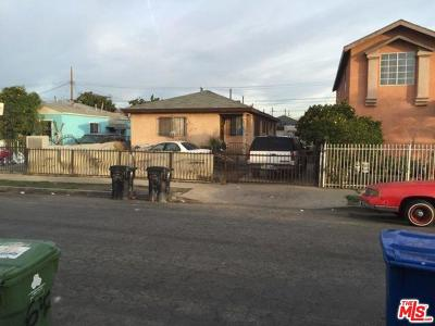 Los Angeles Single Family Home For Sale: 643 East 109th Place