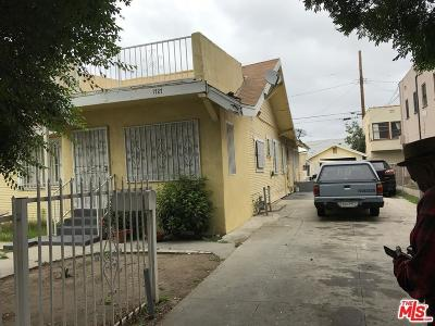 Los Angeles Single Family Home For Sale: 1727 West 48th Street
