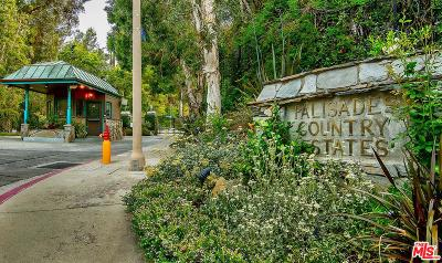 Pacific Palisades Single Family Home For Sale: 17726 Calle De Palermo