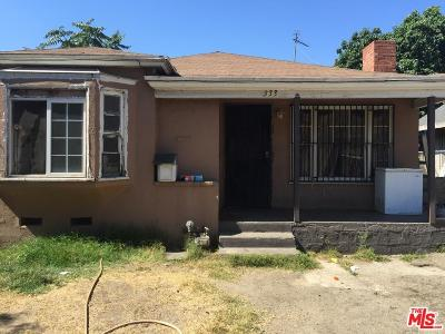 Los Angeles Single Family Home For Sale: 333 West 58th Street