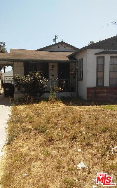 Los Angeles Single Family Home For Sale: 3316 West 78th Street