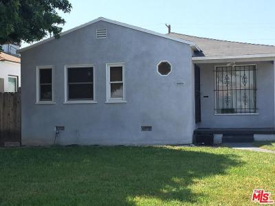 Los Angeles Single Family Home For Sale: 1630 West 107th Street