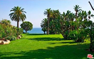 Malibu CA Residential Lots & Land For Sale: $12,750,000