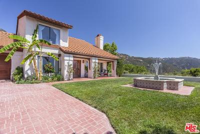 Malibu Single Family Home For Sale: 1577 South Monte Viento Street