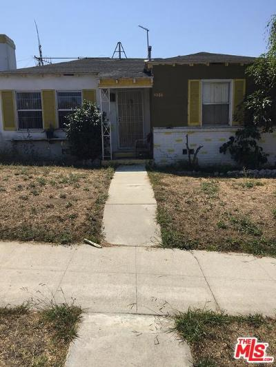 Los Angeles Single Family Home For Sale: 4534 West 62nd Street