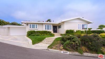 Pacific Palisades Single Family Home For Sale: 16044 Anoka Drive