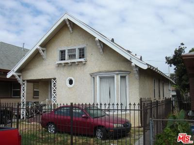 Los Angeles Single Family Home For Sale: 1201 East 53 Rd