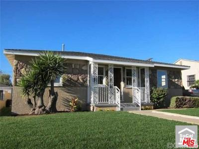 Los Angeles Single Family Home For Sale: 1719 West 110th Place