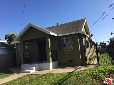 Los Angeles Single Family Home For Sale: 232 West 107th Street