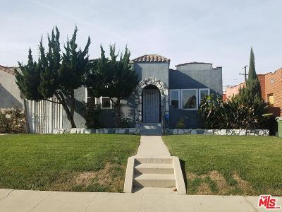 Los Angeles Single Family Home For Sale: 7607 South Hobart Boulevard
