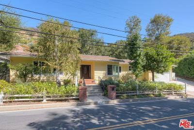 Single Family Home For Sale: 3634 Mandeville Canyon Road
