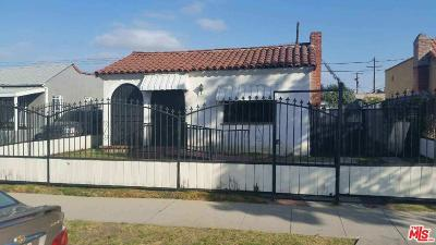 Los Angeles Single Family Home For Sale: West 68th Street