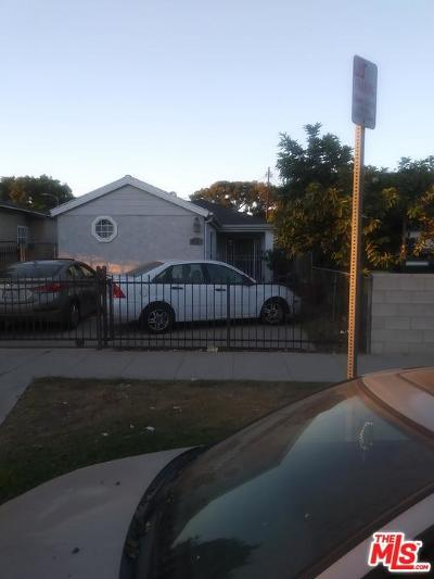 Los Angeles Single Family Home For Sale: 1555 West 59th Place