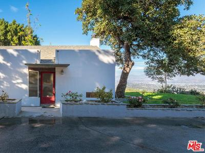 Single Family Home For Sale: 13745 Mulholland Drive